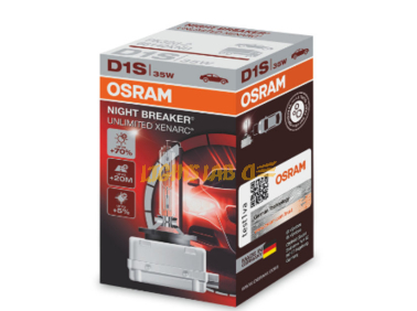 Ксеноновая лампа D1S Osram Xenarc NIGHT BREAKER UNLIMITED - 66140XNB