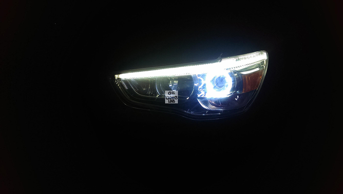 Mitsubishi ASX - DRL + Angel Eyes